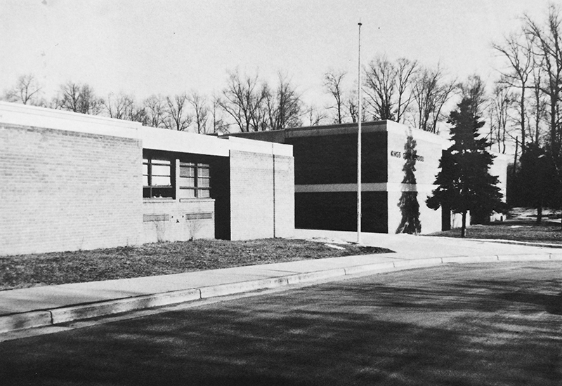 Kings Glen Elementary School, exterior, possibly mid-1980s