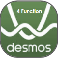 icon of Desmos logo and 4 function